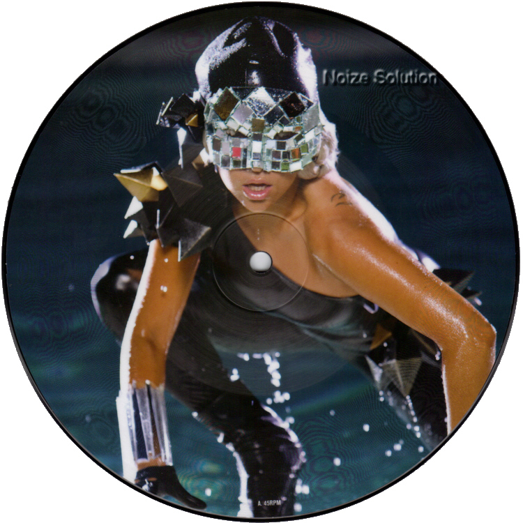 Lady Gaga - Poker Face 7 inch vinyl Picture Disc Record Side 1 LadyGaga.