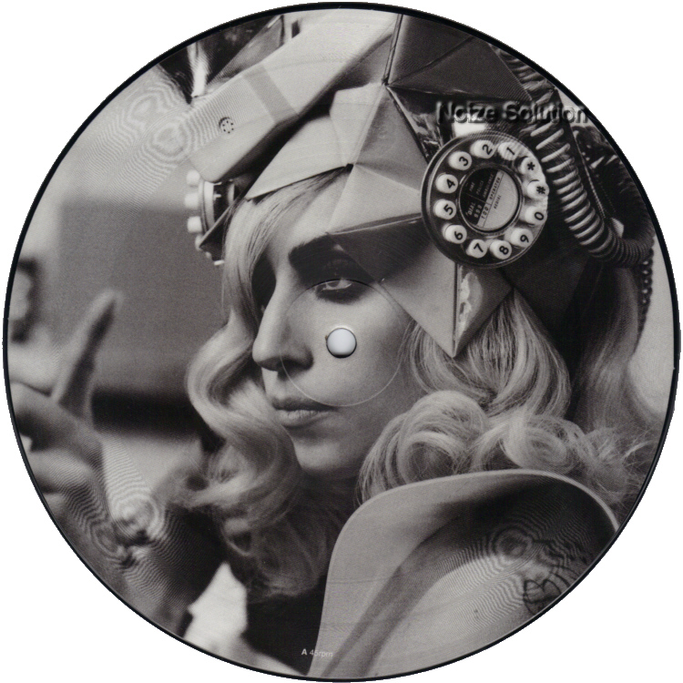 Lady Gaga (Beyonce) - Telephone 7 inch vinyl Picture Disc Record Side 1 LadyGaga.