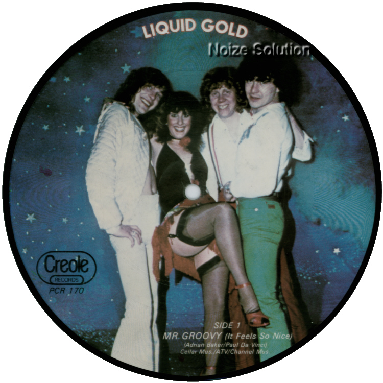 Liquid Gold - Mr Groovy (It Feels So Nice) 7 inch vinyl Picture Disc Record Side 1.