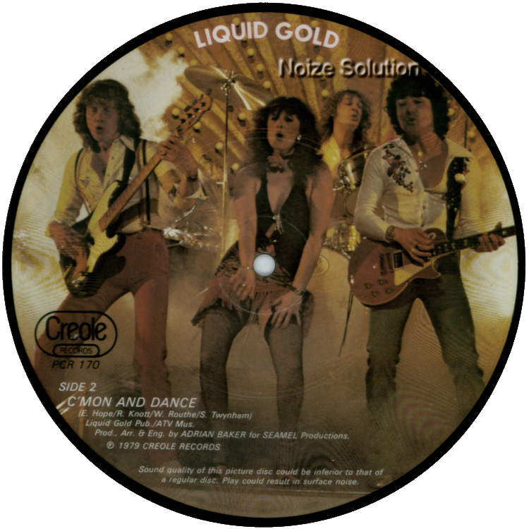 Liquid Gold - Mr Groovy (It Feels So Nice) 7 inch vinyl Picture Disc Record Side 2.