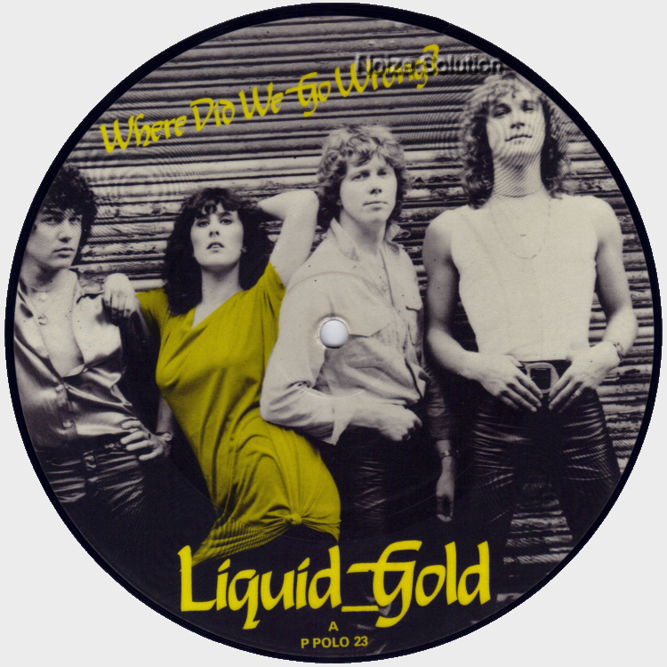Liquid Gold - Where Did We Go Wrong 7 inch vinyl Picture Disc Record Side 1.