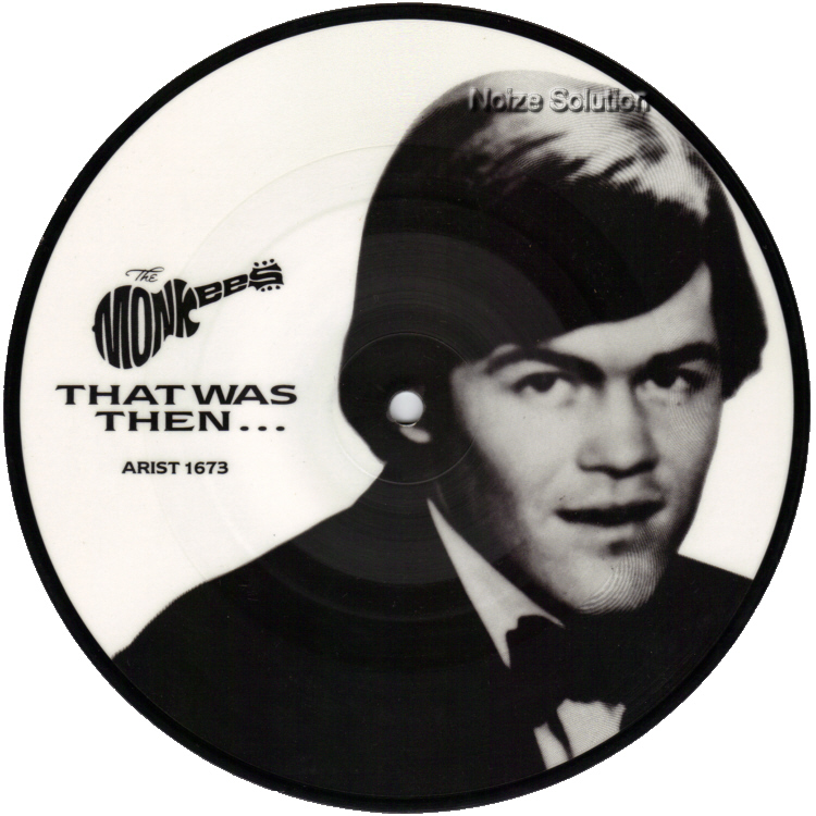 The Monkees Mickey Dolenz - That Was Then This Is Now 7 inch vinyl Picture Disc Record Side 1.