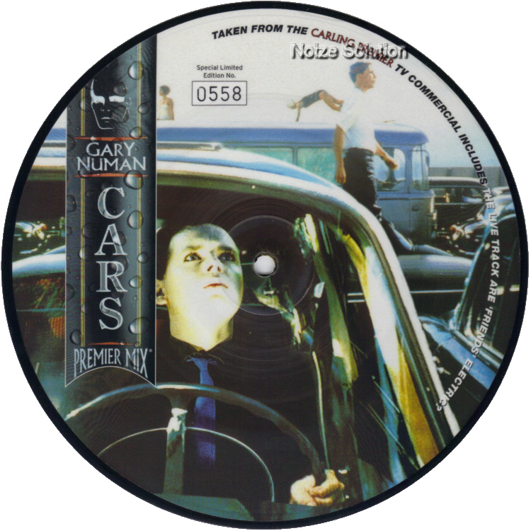 Gary Numan Cars 7 inch vinyl Picture Disc Record Side 1 garynuman.