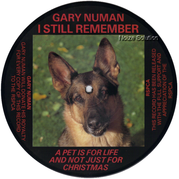 Gary Numan I Still Remember 7 inch vinyl Picture Disc Record Side 1 garynuman.