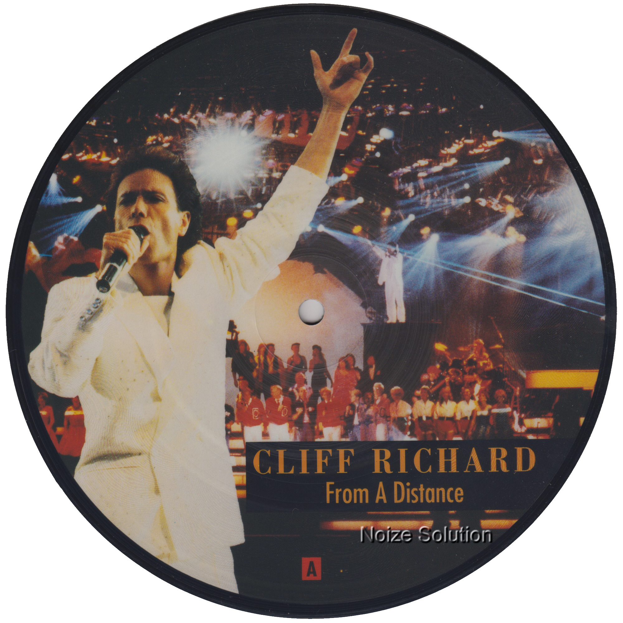 Cliff Richard - From A Distance 7 inch vinyl Picture Disc Record Side 1 CliffRichard.