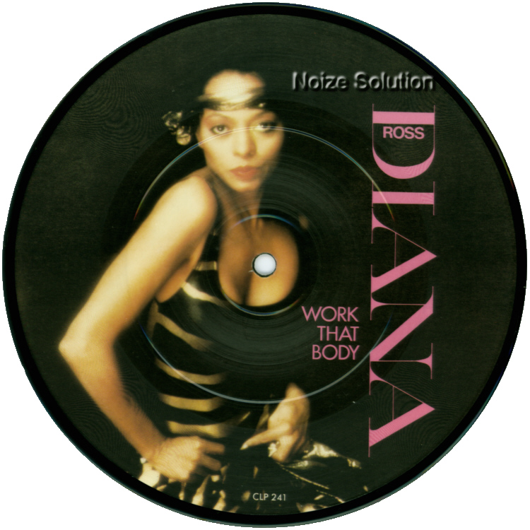 Diana Ross Work That Body 7 inch vinyl Picture Disc Record Side 1.