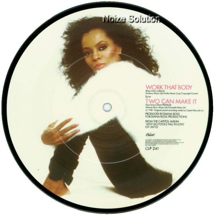 Diana Ross Work That Body 7 inch vinyl Picture Disc Record Side 2.