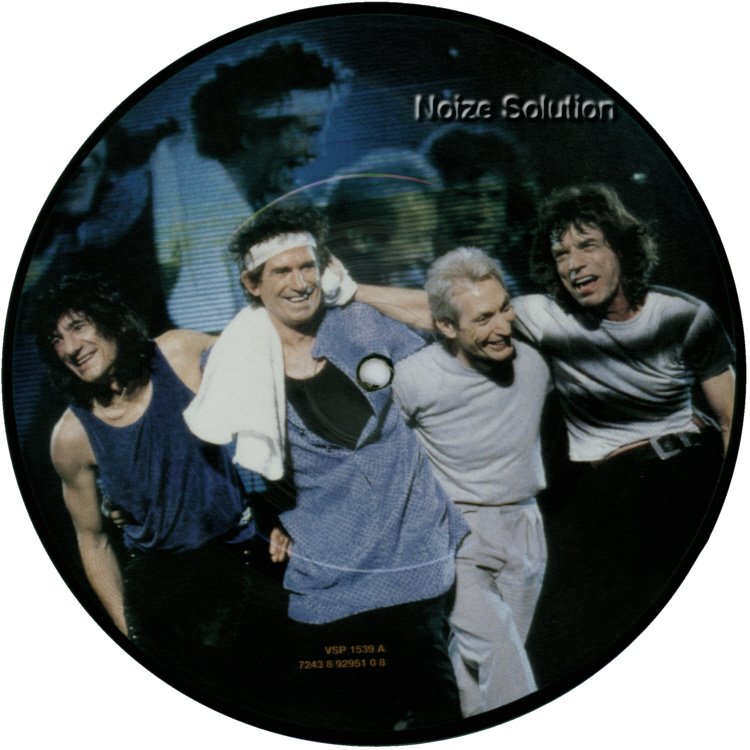 The Rolling stones - I Go Wild 7 inch vinyl picture disc record Side 1.