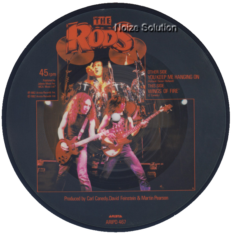 The Rods - You Keep Me Hanging On 7 inch vinyl Picture Disc Record Side 2.