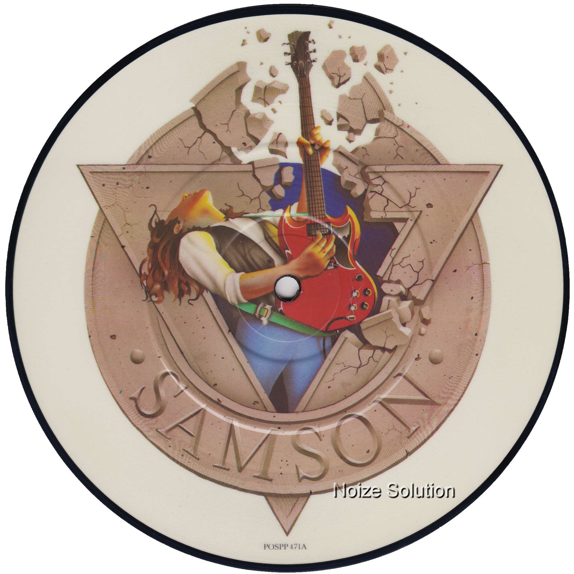 Samson - Losing My Grip 7 inch vinyl Picture Disc Record Side 1.