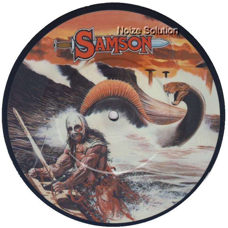 Samson - Red Skies 7 inch vinyl Picture Disc Record Side 1 SamsonSamson.