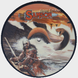 Samson - Red Skies 7 inch vinyl Picture Disc record Side 1