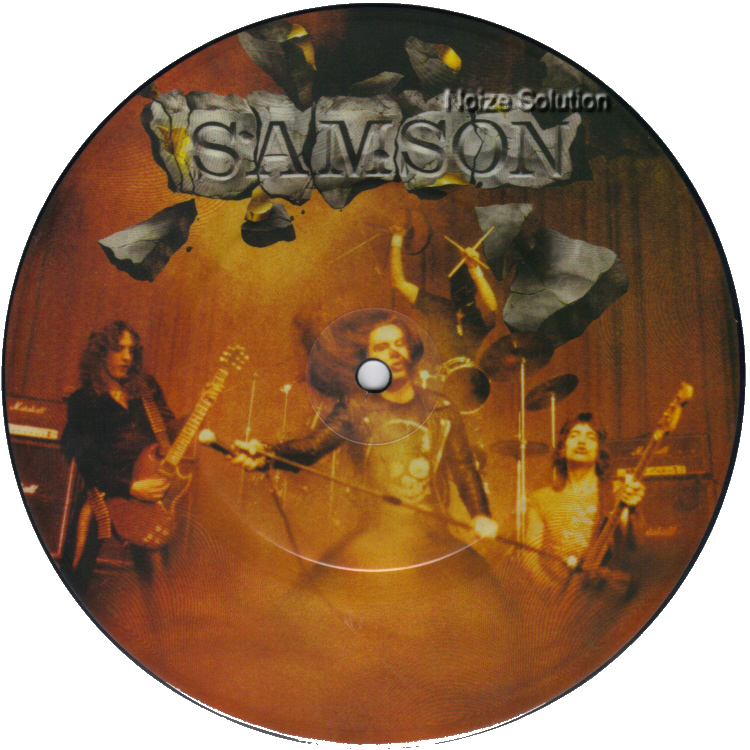 Samson - Riding With The Angels 7 inch vinyl Picture Disc record Side 1