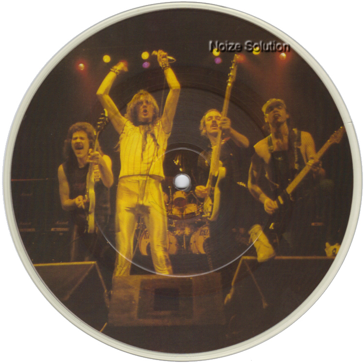 Saxon - And The Bands Played On 7 inch vinyl Picture Disc record Side 1