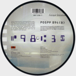 Sharpe and Numan -  No More Lies 7 inch vinyl picture disc record side 2.