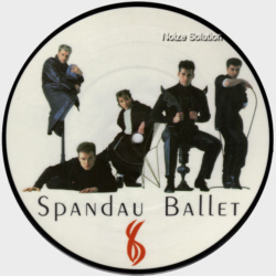 Spandau Ballet Through The Barricades 7 inch vinyl Picture Disc Record Side 1.