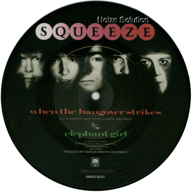 Squeeze When The Hangover Strikes 7 inch vinyl Picture Disc record Side 2