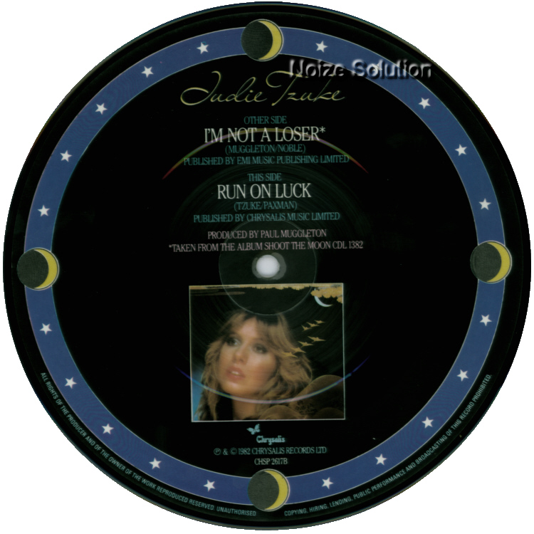 Judie Tzuke - I'm Not A Loser 7 inch vinyl Picture Disc Record Side 2.