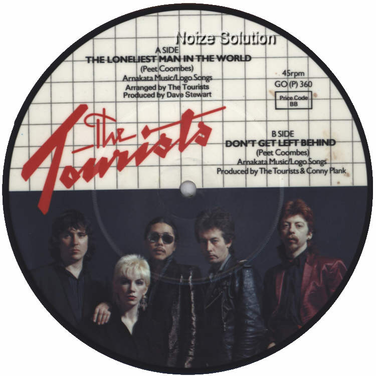 The Tourists - The Loneliest Man In The World 7 inch vinyl Picture Disc Record Side 2 TheTourists.
