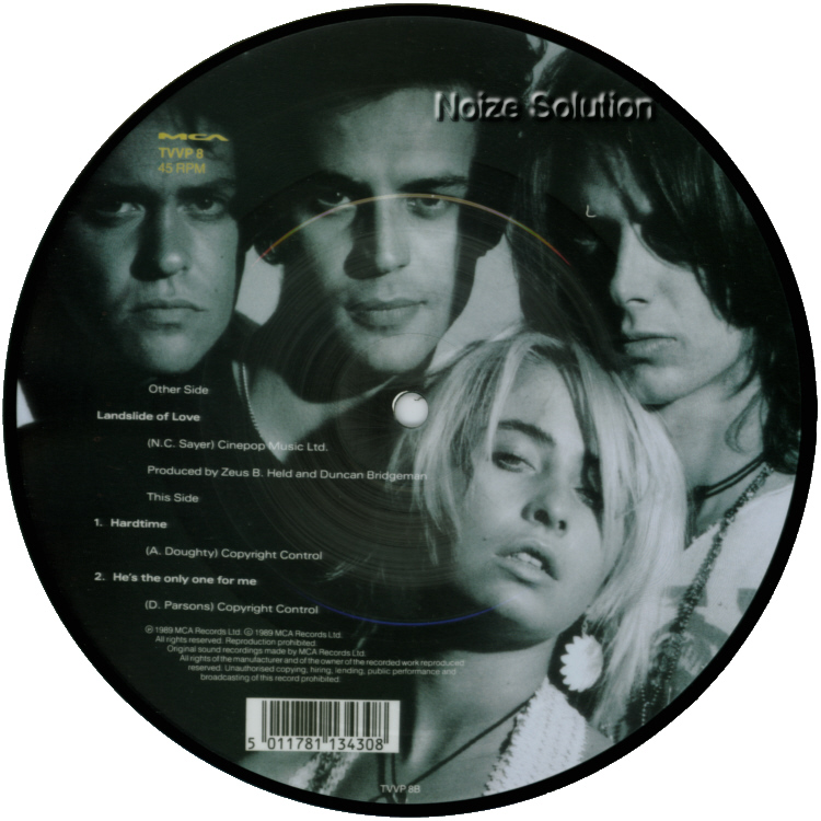 Transvision Vamp - Landslide Of Love 7 inch vinyl Picture Disc Record Side 2.