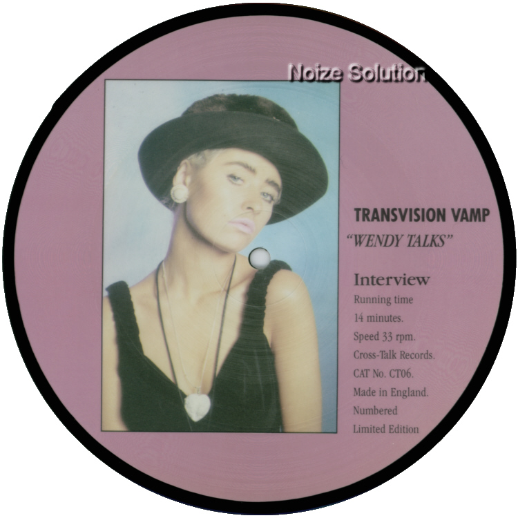 Transvision Vamp - Wendy James Talks 7 inch vinyl Picture Disc Record Side 2.
