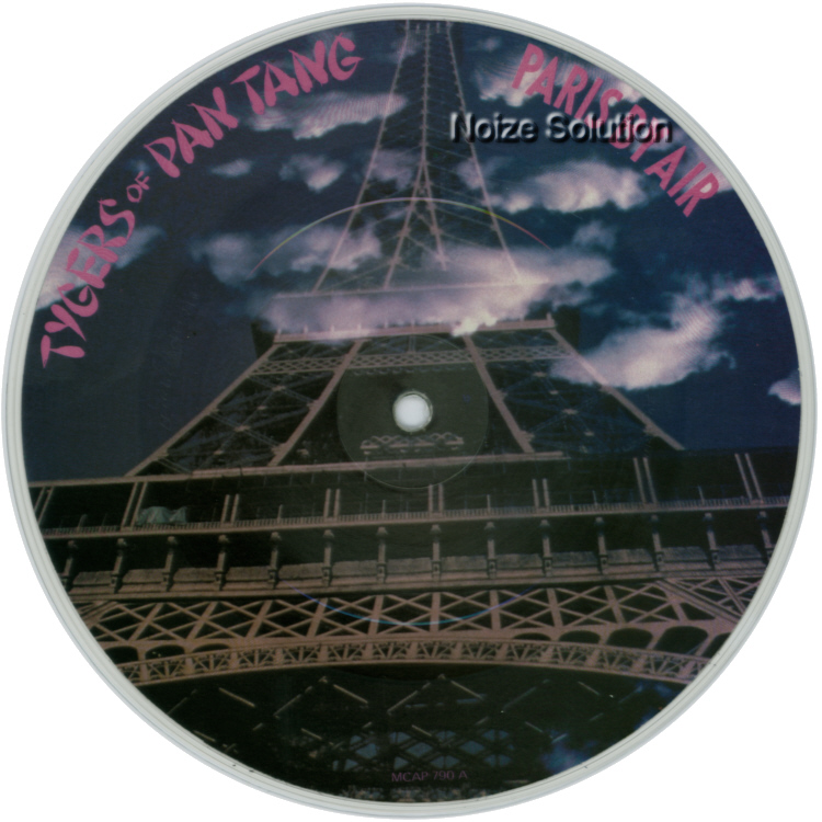 Tygers of Pan Tang - Paris By Air 7 inch vinyl Picture Disc Record Side 1.