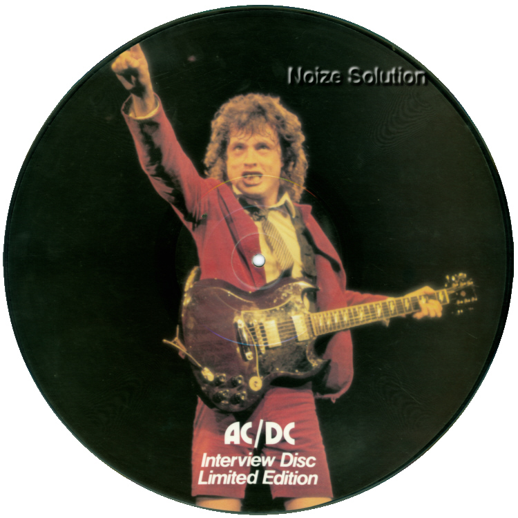 AC/DC - Interview vinyl LP Picture Disc Record Side 1 acdcacdc.