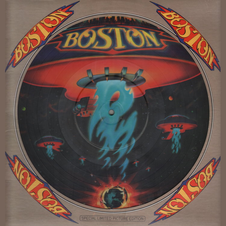 Boston - Number of the Beast 12 inch Sleeve Front.