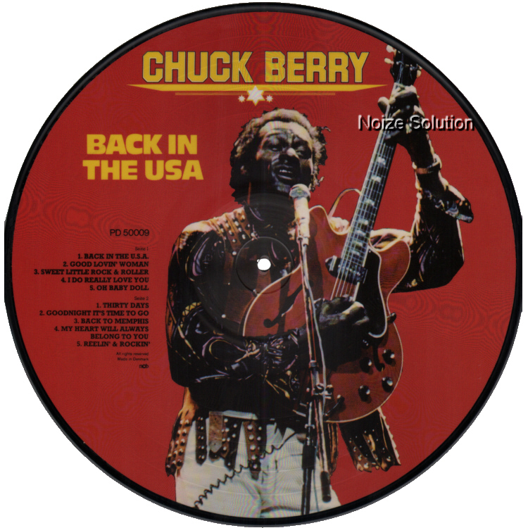 Chuck Berry - Back In The USA, vinyl LP Picture Disc record side 2.