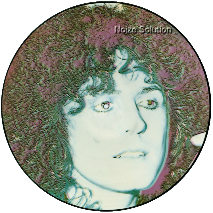 MARC BOLAN AND T.REX - Across The Airwaves, vinyl LP Picture Disc record side 1.
