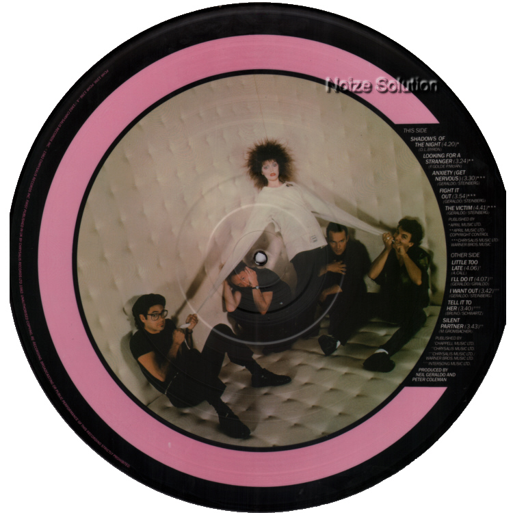 Pat Benatar - Get Nervous vinyl LP Picture Disc Record Side 2 PatBenatar.