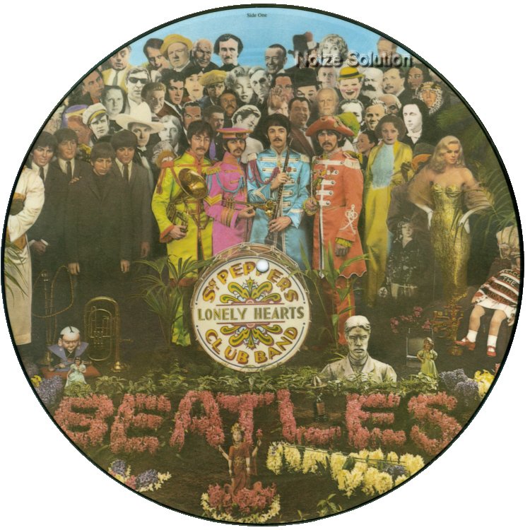 The Beatles - Sgt Pepper's Lonely Hearts Club Band vinyl LP Picture Disc Record Side 1 thebeatles.