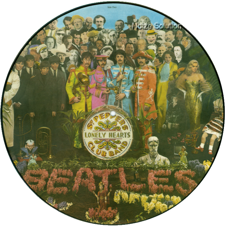 The Beatles - Sgt Pepper's Lonely Hearts Club Band vinyl LP Picture Disc Record Side 2 thebeatles.