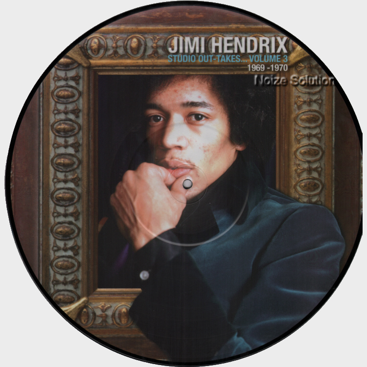 Jimi Hendrix - Studio Out-Takes volume 3, vinyl LP picture disc record side 1.
