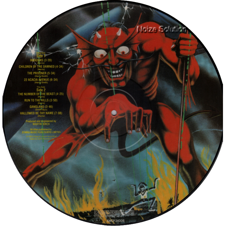 Iron Maiden - The Number Of The Beast LP vinyl Picture Disc record side 2.