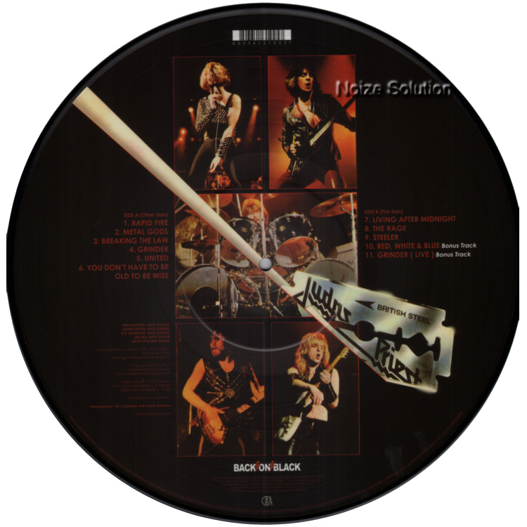 Judas Priest - British Steel vinyl LP Picture Disc Record Side 2.