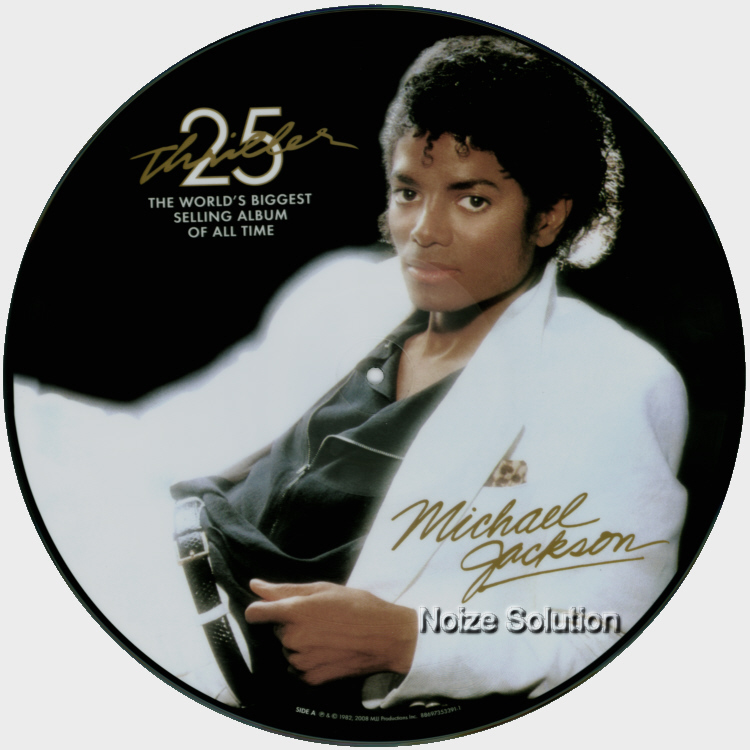 Michael Jackson Thriller, 25th Anniversary USA vinyl picture disc record side 1.