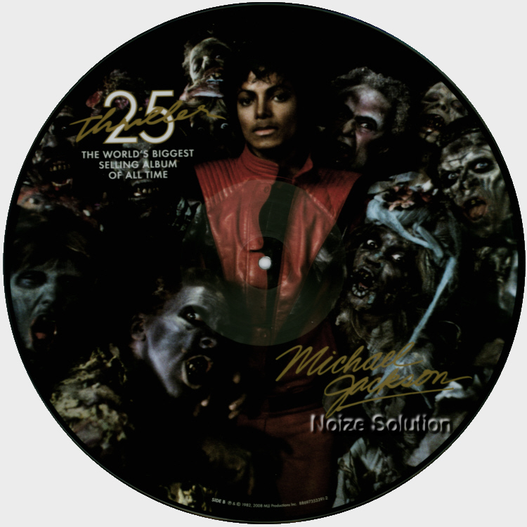 Michael Jackson Thriller, 25th Anniversary USA vinyl picture disc record side 2.