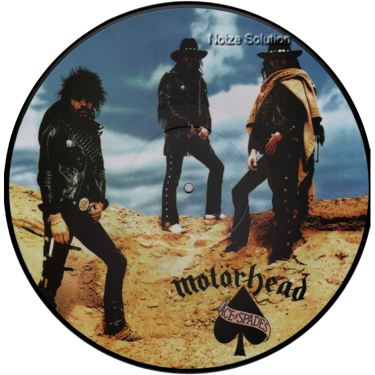 Motorhead Ace Of Spades, vinyl LP Picture Disc record Side 1.