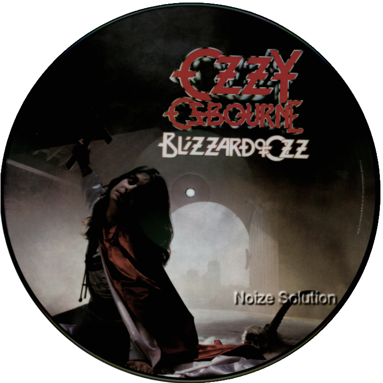 Ozzy Osbourne - Blizzard Of Ozz vinyl LP Picture Disc Record Side 1.