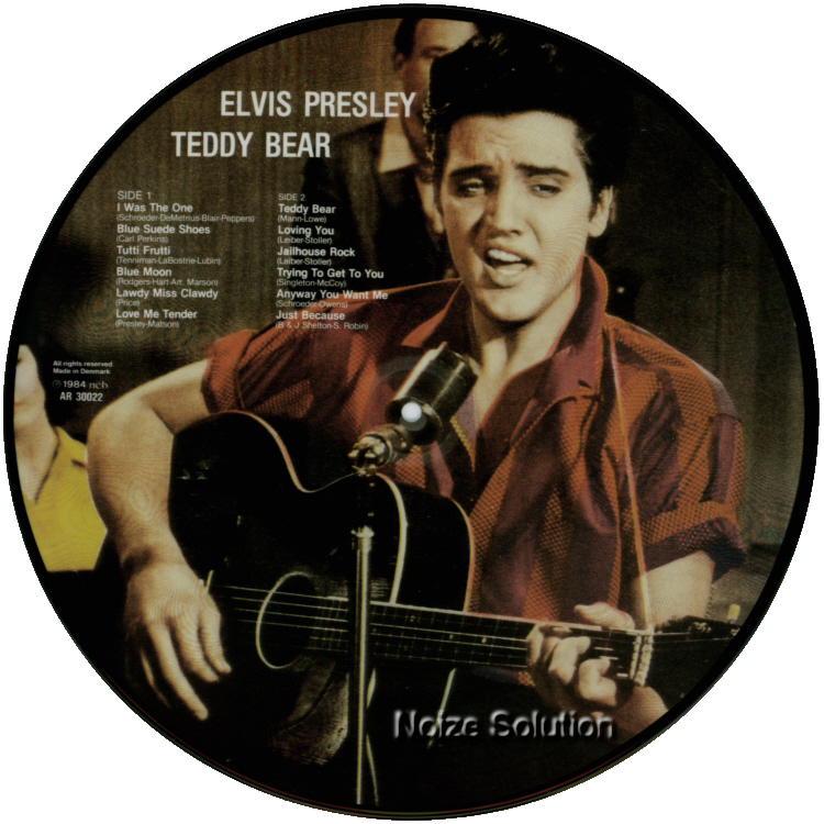 Elvis Presley - TEDDY BEAR vinyl LP Picture Disc Record Side 2.