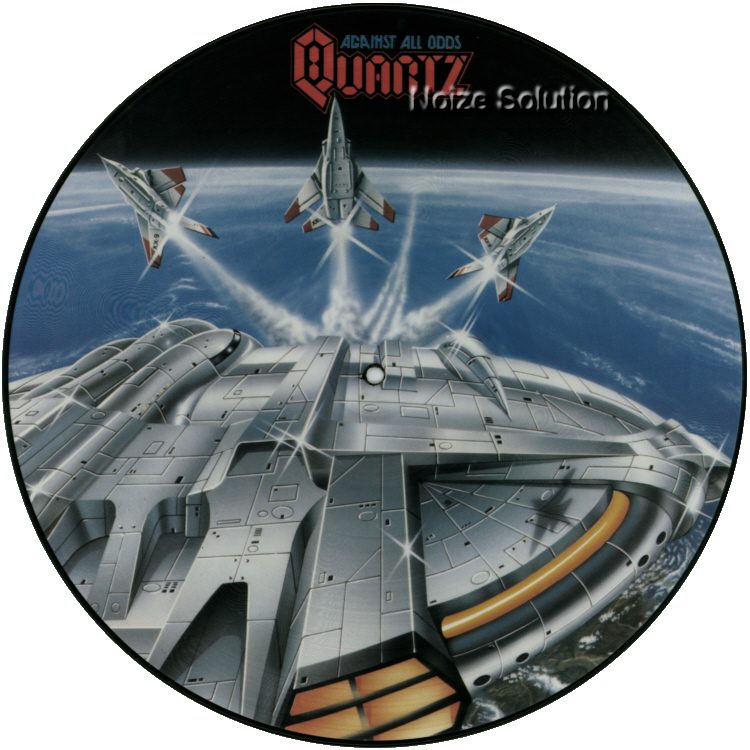 Quartz - Against All Odds vinyl LP Picture Disc Record Side 1.