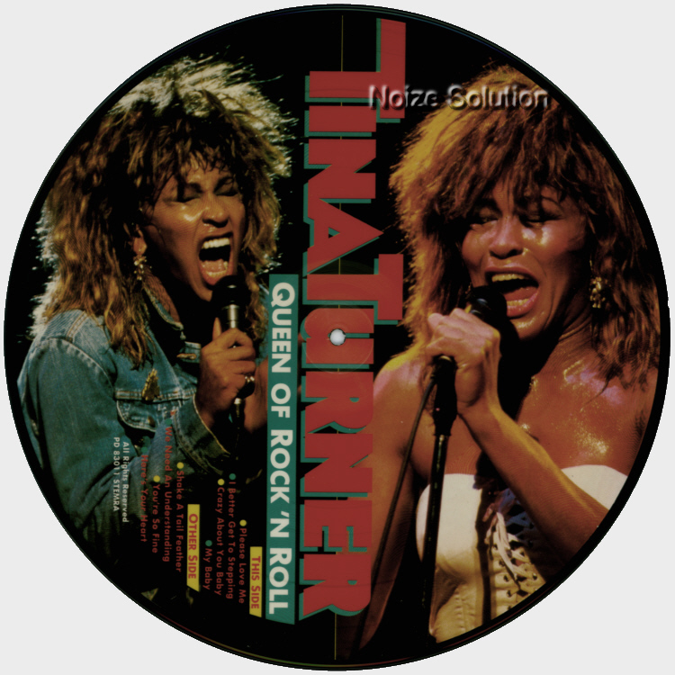 Tina Turner - Queen Of Rock And Roll vinyl LP Picture Disc Record Side 2.