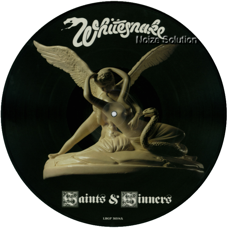 Whitesnake - Saints & Sinners vinyl LP Picture Disc Record Side 1 WhitesnakeWhitesnake.
