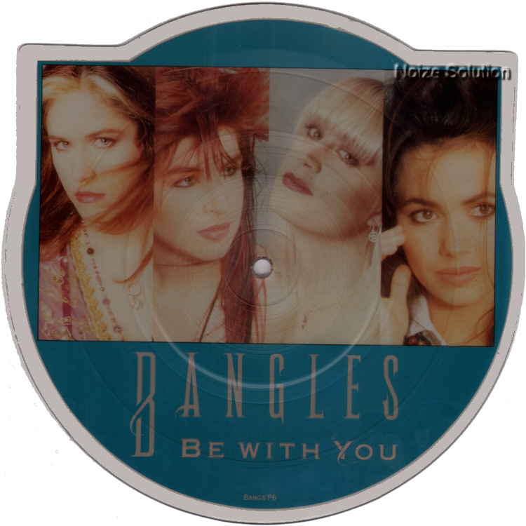 Bangles - Be With You, Shaped vinyl Picture Disc record side 1.