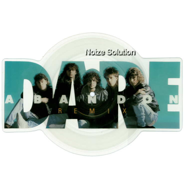 Dare Abandon shaped vinyl Picture Disc Record Side 1 DareDare.