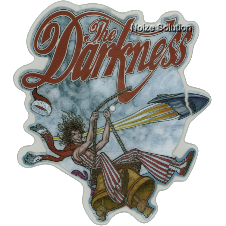 The Darkness - Christmas Time (Don't Let The Bells End) vinyl Shaped Picture Disc Record Side 1 TheDarkness.