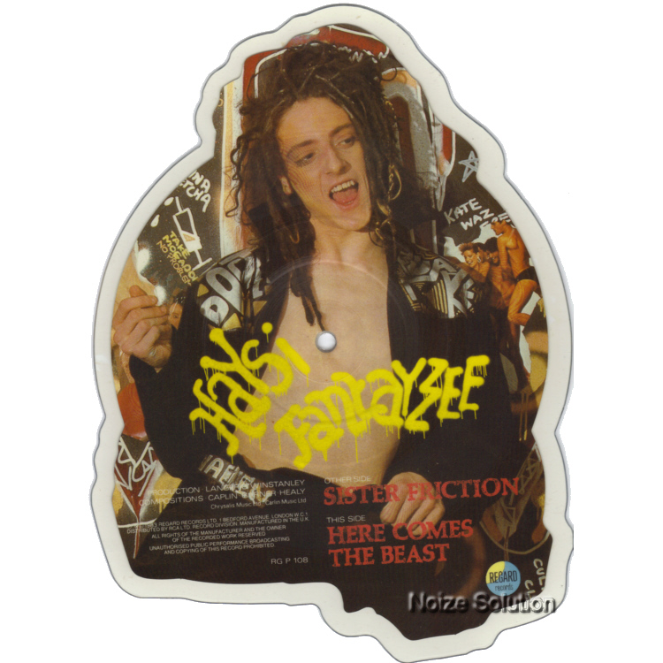 Haysi Fantayzee Sister Friction shaped vinyl Picture Disc Record Side 2 HaysiFantayzee.
