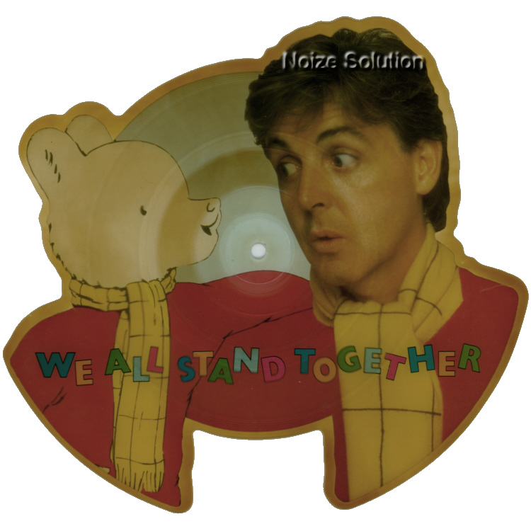 Paul McCartney - We All Stand Together vinyl Shaped Picture Disc Record Side 1 PaulMccartney TheBeatles.