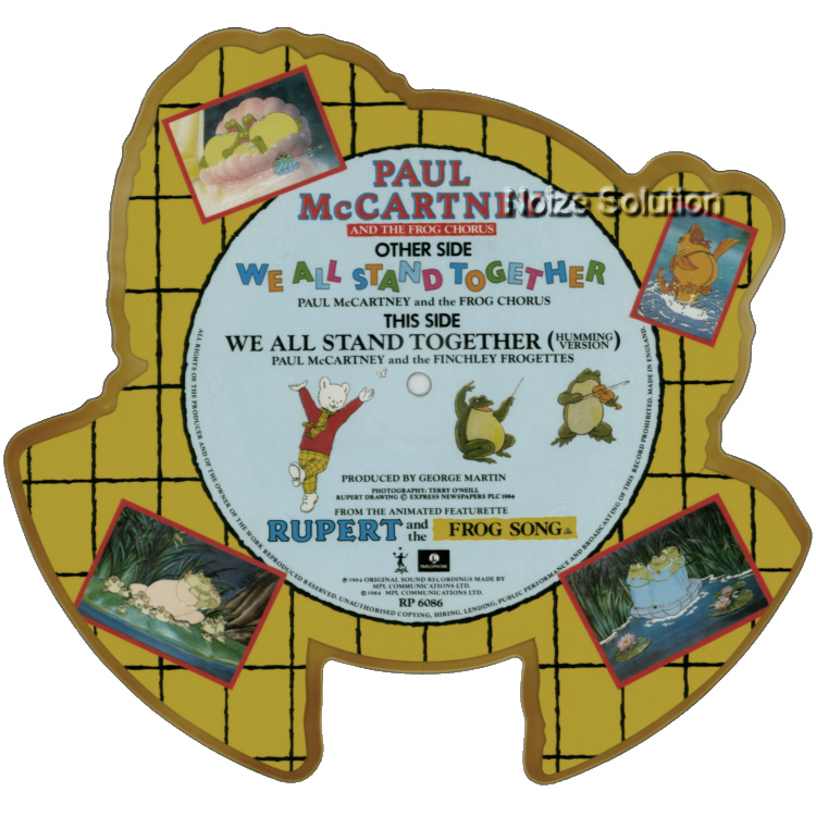 Paul McCartney - We All Stand Together vinyl Shaped Picture Disc Record Side 2 PaulMccartney TheBeatles.